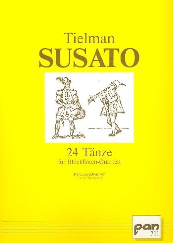 Susato, Tielman - 24 Tänze - SATB