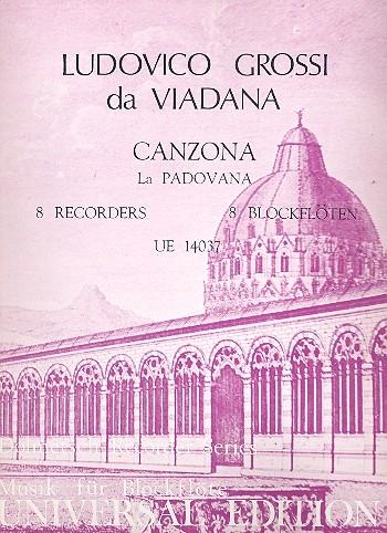 Viadana, Ludovico - Canzona 'La Padovana' - SATB + SATB