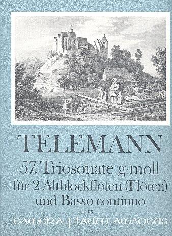 Telemann, Georg Philipp - 57. Triosonate g-moll - 2 Altblockflöten und Bc.