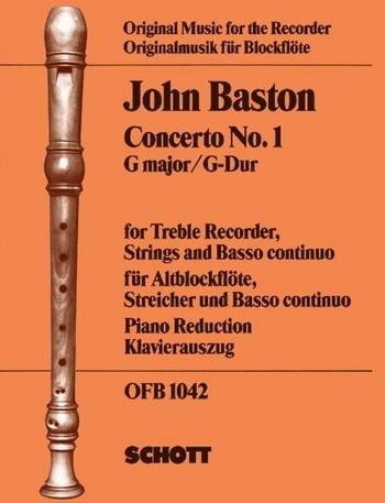 Baston, John - Concerto 1 G-dur - Altblockflöte und Basso continuo