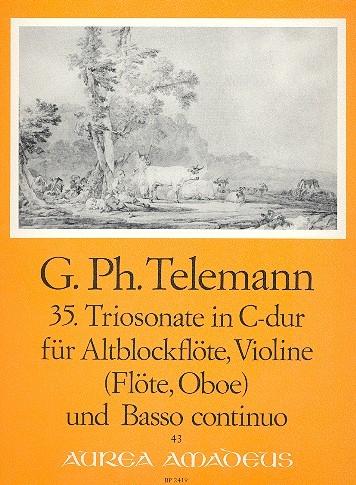 Telemann, Georg Philipp - 35. Triosonate C-dur - Altblockflöte, Violine und Bc.