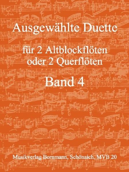 Bornmann, Johannes (Hrg.) - Ausgewählte Duette Band 4 - 2 Altblockflöten