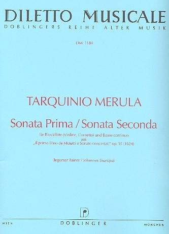 Merula, Tarquinio - Sonata prima / Sonata seconda - Sopranblockflöte und Basso continuo