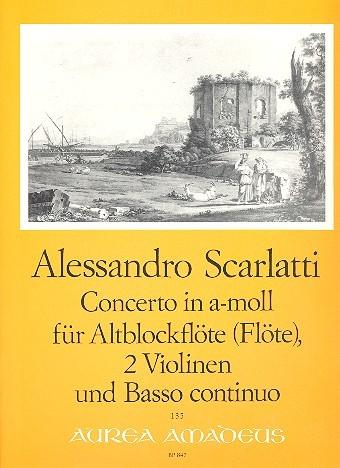 Scarlatti, Domenico - Concerto a-moll - Altblockflöte, 2 Violinen und Bc.