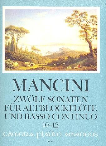 Mancini, Francesco - Zwölf Sonaten Band 4 - Altblockflöte und Basso continuo