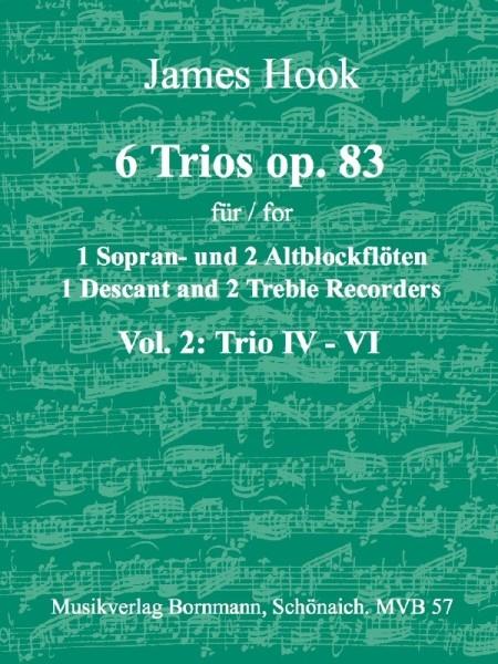 Hook, James - 6 Trios op. 83 -  Band 2 SAA