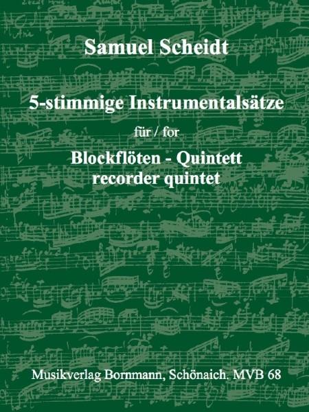 Scheidt, Samuel - Instrumentalsätze - SSATB / SATBB