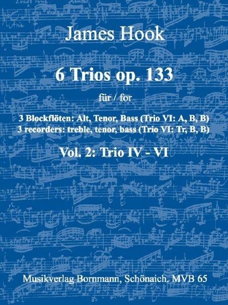 Hook, James - 6 Trios op. 133 -  Band 2 ATB