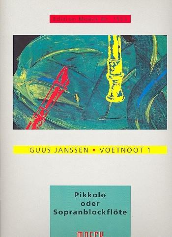 Janssen, Guus - Voetnoot 1  - Sopranino- oder Sopranblockflöte solo
