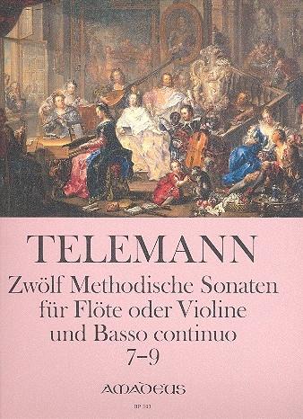 Telemann, Georg Philipp 12 methodische Sonaten, Band 3 - Sopranblockflöte und Basso continuo
