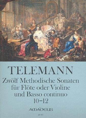Telemann, Georg Philipp - 12 methodische Sonaten, Band 4 - Sopranblockflöte und Basso continuo