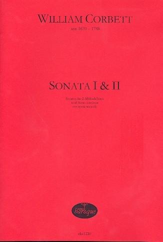 Corbett, William - Sonata I & II  - 2 Altblockflöten und Bc.