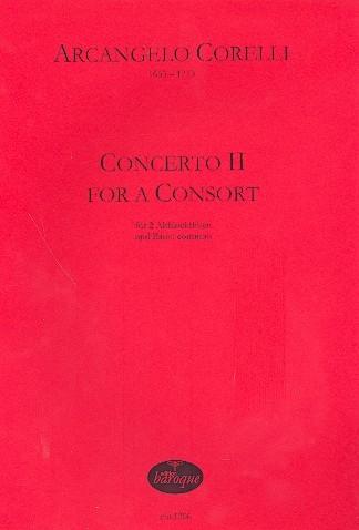Corelli, Arcangelo - Concerto II for a Consort - 2 Altblockflöten und Bc