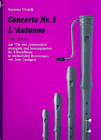 Vivaldi, Antonio - Concerto Nr. 3  L'Autunno - ATBB / AATB