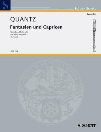 Quantz, Johann Joachim - Fantasien und Capricen - Altblockflöte solo