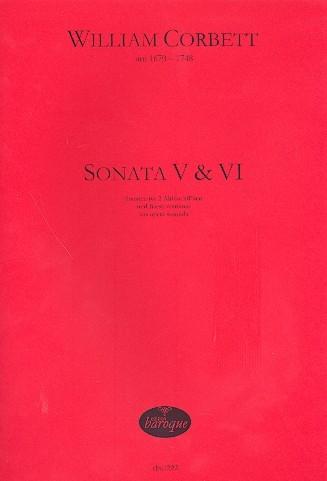 Corbett, William - Sonata V & VI - 2 Altblockflöten und Bc.