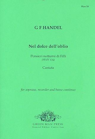 Händel, Georg Friedrich - Nel dolce dell´oblio - Kantate für Sopran, Blockflöte und Bc.