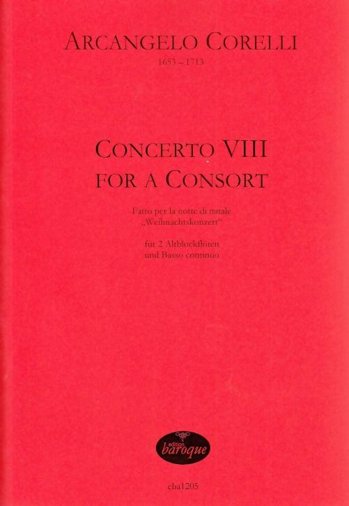 Corelli, Arcangelo - Weihnachtskonzert - 2 Treble Recorders.