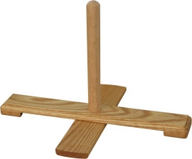 Great bass recorder-Stand, made of oak