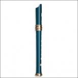 Sopranblockflöte Mollenhauer 4119B Adri's Traumflöte, Birnbaum blau, barocke Griffweise