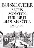 Boismortier, Joseph Bodin de - Sechs Sonaten - AAA