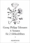 Telemann, Georg Philipp - Sechs Sonaten -  Band 1 - 2 Altblockflöten