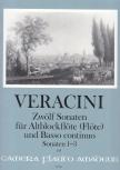 Veracini, Francesco - Zwölf Sonaten Band 1 - Altblockflöte und Basso continuo