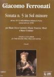 Ferronati, Giacomo - Sonata Nr. 5 g-moll - Altblockflöte und Basso continuo