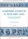 Zanetti, Gasparo - Il scolaro  - Vol.2  SATB