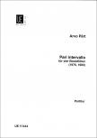 Pärt, Arvo - Pari Intervallo - SATB