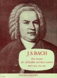 Bach, Johann Sebastian - Drei Sonaten - Altblockflöte und Basso continuo