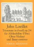Loeillet, John - Triosonate d-moll op.2/4 - Altblockflöte, Oboe und Bc.