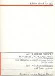 Merula / Picci / Mussi- Acht frühbarocke Sonaten und Canzonen - 1- bis 6-stimmige Blockflöten und Bc.