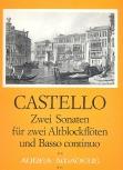 Castello, Dario - Zwei Sonaten - 2 Altblockflöten und Bc.