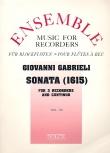Gabrieli, Giovanni - Sonata 1615 - 3 Altblockflöten und Bc.