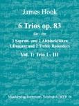 Hook, James - 6 Trios op. 83 -  Band 1  SAA
