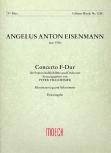 Eisenmann, Angelus Anton - Concerto F-dur -    Sopraninoblockflöte und Orchester Klavierauszug