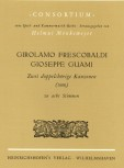 Frescobaldi/Guami - 2 doppelchörige Kanzonen - SATB + SATB