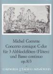 Corrette, Michel - Concerto comique C-dur  3 Altblockflöten und Bc.