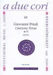 Priuli, Giovanni - Canzone Terza a 6 - SSATTB