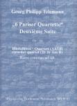 Telemann, Georg Philipp - 6 Pariser Quartette - Deuxième Suite AATB