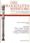 Bach, Johann Sebastian - Sonate F-dur BWV 1033 - Altblockflöte Solo