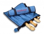 Roll Bag with five slots, blue jeans