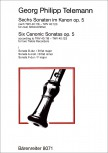 Telemann, Georg Philipp - Sechs Sonaten im Kanon - Band 1 2 Altblockflöten