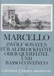 Marcello, Benedetto - Zwölf Sonaten op. 2 Band 1 - Altblockflöte und Basso continuo