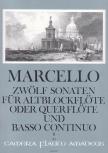 Marcello, Benedetto - Zwölf Sonaten op. 2 Band 2 - Altblockflöte und Basso continuo