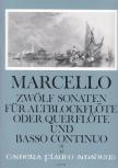 Marcello, Benedetto - Zwölf Sonaten op. 2 Band 3 - Altblockflöte und Basso continuo