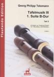 Telemann, Georg Philipp - Table music III Teil 2 - 1. suite e flat major -  SSATTBGbSb