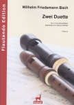 Bach, Wilhelm Friedemann - Two duets - 2 recorders