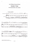 Bach, Carl Philipp Emanuel - Sonate F-dur - Bassflöte und Cembalo